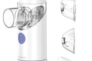 Inhalator, tragbarer geräuscharmes Vernebler Set für Kinder und Erwachsene, wirksam bei Atemwegserkrankungen (Model:PIHI1)