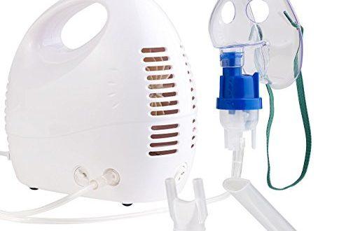 newgen medicals Inhaliergerät: Medizinischer Kompakt-Inhalator für Erwachsene und Kinder (Tisch Inhaliergeräte)